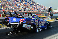 Jun. 29, 2012; Joliet, IL, USA: NHRA funny car driver Robert Hight during qualifying for the Route 66 Nationals at Route 66 Raceway. Mandatory Credit: Mark J. Rebilas-