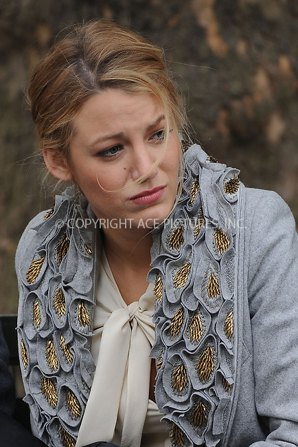 WWW.ACEPIXS.COM . . . . . ....October 14 2009, New York City....Actress Blake Lively on the set of the TV show 'Gossip Girl' on October 14 2009 in NewYork City....Please byline: KRISTIN CALLAHAN - ACEPIXS.COM.. . . . . . ..Ace Pictures, Inc:  ..tel: (212) 243 8787 or (646) 769 0430..e-mail: info@acepixs.com..web: http://www.acepixs.com