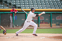 Grant Green (7) of the Salt Lake Bees at bat against the Tacoma Rainiers in Pacific Coast League action at Smith's Ballpark on May 7, 2015 in Salt Lake City, Utah. The Bees defeated the Rainiers 11-4 in the completion of the game that was suspended due to weather on May 6, 2015.(Stephen Smith/Four Seam Images)