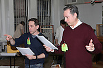 Garth Kravits & Kevin Pariseau attending the Rehearsal for the Bucks County Playhouse production of 'It's a Wonderful Life - A Live Radio Play' at their rehearsal studios in New York City on December 5, 2012.