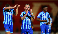 Blackpool's Jay Spearing applauds the fans after the match<br /> <br /> Photographer Alex Dodd/CameraSport<br /> <br /> The EFL Sky Bet League One - Doncaster Rovers v Blackpool - Tuesday September 17th 2019 - Keepmoat Stadium - Doncaster<br /> <br /> World Copyright © 2019 CameraSport. All rights reserved. 43 Linden Ave. Countesthorpe. Leicester. England. LE8 5PG - Tel: +44 (0) 116 277 4147 - admin@camerasport.com - www.camerasport.com