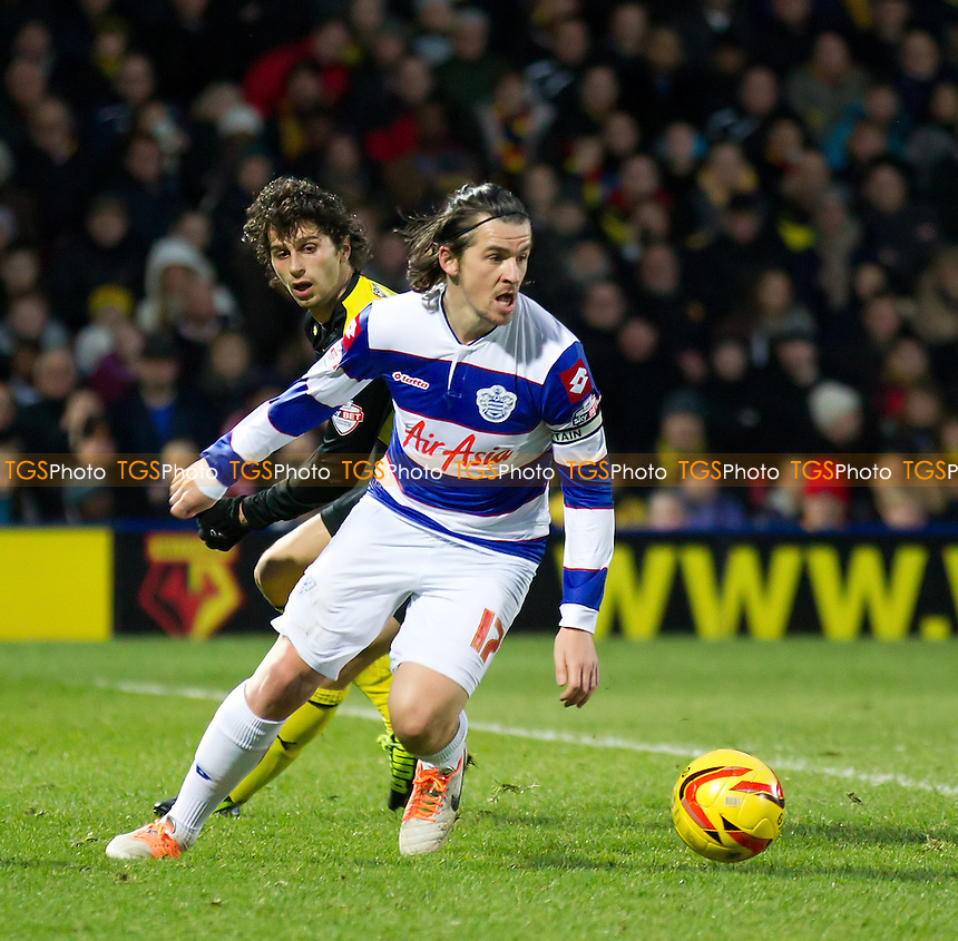 Joey Barton of Queens Park Rangers clears the ball from defence - Watford vs Queens Park Rangers - Sky Bet Championship Football at Vicarage Road Stadium, Watford, Hertfordshire - 29/12/13 - MANDATORY CREDIT: Ray Lawrence/TGSPHOTO - Self billing applies where appropriate - 0845 094 6026 - contact@tgsphoto.co.uk - NO UNPAID USE