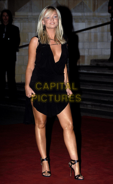 EMMA BUNTON.fringe, little black dress, minidress, plunging neckline.arrivals at the GQ Men Of The Year Awards, held at the Natural History Museum last night..Ref: AH.sales@capitalpictures.com.www.capitalpictures.com.©Capital Pictures