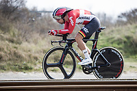 Jens Debusschere (BEL/Lotto Soudal)<br /> <br /> 3 Days of De Panne 2017<br /> afternoon stage 3b: ITT De Panne-De Panne (14,2km)