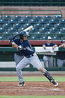 AZL Padres 2 shortstop Kelvin Alarcon (3) at bat against the AZL Giants on July 13, 2017 at Scottsdale Stadium in Scottsdale, Arizona. AZL Giants defeated the AZL Padres 2 11-3. (Zachary Lucy/Four Seam Images)