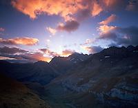 view from Pic de Tentes to Cirque de Gavarnie, Pyrenées, France