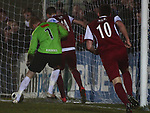 Picture by Arron Gent/Extreme Aperture Photography +44 7545 970036.18/02/2013.Robert Edmans of Chelmsford City scores his side's first goal making it 1-1 during the Blue Square Bet Blue Square South  League match at Melbourne Stadium, Chelmsford, Essex.