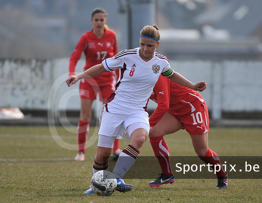 Switzerland U19 - Russia U19 : Anastasia Efimova (C).foto DAVID CATRY / Nikonpro.be
