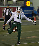 Colorado State's Ryan Stonehouse (41 ) punts against Nevada in the second half of an NCAA college football game in Reno, Nev., Saturday, Nov. 10, 2018. (AP Photo/Tom R. Smedes)