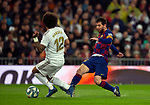 FC Barcelona's forwar Lionel Messi and Real Madrid CF's Marcelo Vieira competes for the ball during La Liga match. Mar 01, 2020. (ALTERPHOTOS/Manu R.B.)