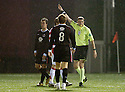 17/10/2006       Copyright Pic: James Stewart.File Name :sct_jspa04_hamilton_v_clyde.CLYDE'S DOUGIE IMRIE IS BOOKED... IMRIE WAS BOOED ALL NIGHT BY THE HAMILTON FANS....Payments to :.James Stewart Photo Agency 19 Carronlea Drive, Falkirk. FK2 8DN      Vat Reg No. 607 6932 25.Office     : +44 (0)1324 570906     .Mobile   : +44 (0)7721 416997.Fax         : +44 (0)1324 570906.E-mail  :  jim@jspa.co.uk.If you require further information then contact Jim Stewart on any of the numbers above.........
