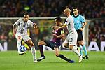 UEFA Champions League 2018/2019 - Matchday 3.<br /> FC Barcelona vs FC Internazionale Milano: 2-0.<br /> Matias Vecino, Sergio Busquets &amp; Borja Valero.