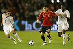 04 June 2008: Cesc Fabregas (ESP) (10) dribbles away from Maurice Edu (USA) (26). The Spain Men's National Team defeated the United States Men's National Team 1-0 at Estadio Municipal El Sardinero in Santander, Spain in an international friendly soccer match.