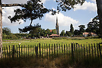 Mistley Place Park tourist attraction and parish church, Mistley, Essex, England
