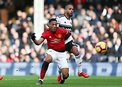 9th February 2019, Craven Cottage, London, England; EPL Premier League football, Fulham versus Manchester United; Anthony Martial of Manchester United shoots to score his sides 2nd goal in the 22nd minute to make it 0-2