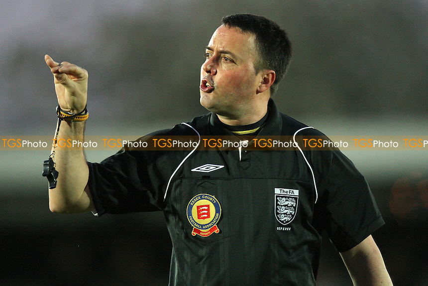 Referee John Hopkins - Aveley vs Billericay Town - Essex Senior Cup Final at Ship Lane, Thurrock FC - 11/04/11 - MANDATORY CREDIT: Gavin Ellis/TGSPHOTO - Self billing applies where appropriate - Tel: 0845 094 6026