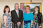 Donal Hickey with his family at his his surprise retirement party fromthe Examiner newspaper in the Plaza Hotel on Saturday night l-r: Aileen, Donal,  Tadhg, Kathleen and Ann Marie Hickey
