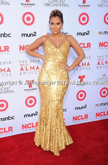 PASADENA, CA- SEPTEMBER 27: Singer Adrienne Bailon arrives at the 2013 NCLA ALMA Awards at Pasadena Civic Auditorium on September 27, 2013 in Pasadena, California.