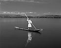 Seminole in Dugout canoe