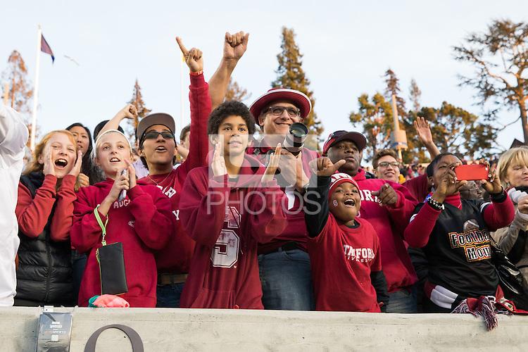 Berkeley, CA -- November 22, 2014:  Stanford Cardinal vs. California Golden Bears at Memorial Stadium.  Stanford defeated Cal 38-17.