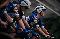 Bob Jungels (LUX/Quick-Step Floors) lined up on the start ramp<br /> <br /> UCI MEN&lsquo;S TEAM TIME TRIAL<br /> Ötztal to Innsbruck: 62.8 km<br /> <br /> UCI 2018 Road World Championships<br /> Innsbruck - Tirol / Austria