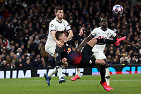 Patrik Schick of RB Leipzig  and Ben Davies of Tottenham Hotspur during Tottenham Hotspur vs RB Leipzig, UEFA Champions League Football at Tottenham Hotspur Stadium on 19th February 2020