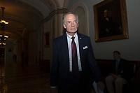 United States Senator Tom Carper (Democrat of Delaware) leaves the Senate Floor on Capitol Hill in Washington D.C., U.S. on July 31, 2019. Photo Credit: Stefani Reynolds/CNP/AdMedia
