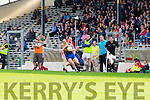 Stephen O'Brien Kenmare is taken out of it by Colm Ó Muircheartaigh West Kerryas the Kenmare management call for a free during their County Championship QF in Fitzgerald Stadium on Sunday