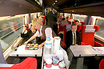 BRUSSELS - BELGIUM - 22 FEBRUARY 2000 -- Businessman traveling with the high speed train Thalys from Brussels to Paris. --PHOTO: JUHA ROININEN / EUP-IMAGES