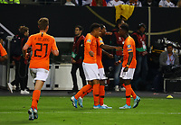 celebrate the goal, Torjubel zum 2:4 um Georginio Wijnaldum (Niederlande) - 06.09.2019: Deutschland vs. Niederlande, Volksparkstadion Hamburg, EM-Qualifikation DISCLAIMER: DFB regulations prohibit any use of photographs as image sequences and/or quasi-video.