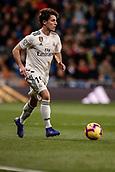 3rd February 2019, Santiago Bernabeu, Madrid, Spain; La Liga football, Real Madrid versus Alaves; Alvaro Odriozola (Real Madrid) comes forward on the ball