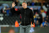 Steve Cooper Head Coach of Swansea City applauds the fans at the final whistle during the Carabao Cup Second Round match between Swansea City and Cambridge United at the Liberty Stadium in Swansea, Wales, UK. Wednesday 28, August 2019.