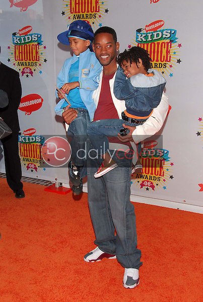 Will Smith and his sons<br />