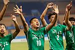 05.09.2017, Stadion, Tianjin, CN. 13. Nationalen Chinesischen Fussballspielen, Zhejiang vs Hubei, im Bild , <br /> <br /> <br /> im Bild Yuning Zhang (Werder Bremen #19) im Halbfinale im grünen Trikot - wie bei seinem Werder Bremen mit der Rueckennummer 10 - Jubel Zhang nach dem Spiel<br /> <br /> Foto © nordphoto / Oscar <br /> ++++ Attention ++++ ALL RIGHTS RESERVED Kein -Facebook -Twitter -Instagram -Social Media Web, keine online Galerie Pauschale,  Honorar und Belegexemplar Star People