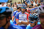 Thibaut Pinot (FRA) Groupama-FDJ at sign on before the start of Stage 17 of the 2018 Giro d'Italia, The Franciacorta Stage running 155km from Riva del Garda to Iseo, Italy. 23rd May 2018.<br /> Picture: LaPresse/Gian Mattia D'Alberto | Cyclefile<br /> <br /> <br /> All photos usage must carry mandatory copyright credit (&copy; Cyclefile | LaPresse/Gian Mattia D'Alberto)