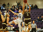 SIOUX FALLS, SD - NOVEMBER 25: Jacey Huinker #23 from the University of Sioux Falls battles for a rebound with Caleigh Rodning #5 from Southwest Minnesota State University during their game Saturday evening at the Stewart Center in Sioux Falls. (Photo by Dave Eggen/Inertia)