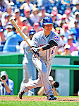 4 July 2010: New York Mets starting pitcher Hisanori Takahashi makes a plate appearance against the Washington Nationals at Nationals Park in Washington, DC. The Mets defeated the Nationals 9-5, splitting their 4-game series. Mandatory Credit: Ed Wolfstein Photo