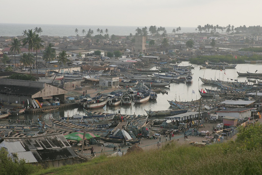 Fishing boats, Elmina, Ghana..Photograph by Peter E. Randall