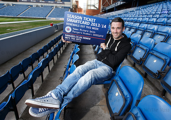 Nicky Clark promotes Rangers season ticket sales at Ibrox Stadium