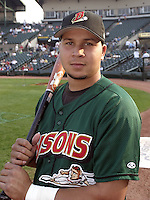September 5, 2004:  Shortstop Jhonny Peralta of the Buffalo Bisons, International League (AAA) affiliate of the Cleveland Indians, during a game at Frontier Field in Rochester, NY.  Photo by:  Mike Janes/Four Seam Images