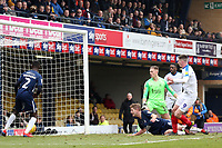 Oliver Hawkins of Portsmouth scores the third goal during Southend United vs Portsmouth, Sky Bet EFL League 1 Football at Roots Hall on 16th February 2019