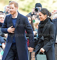 181801 HRH Prince Harry and Meghan visit Cardiff castle