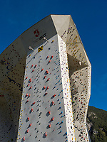 Kletterzentrum in Imst. Tirol, &Ouml;sterreich, Europa<br /> climbing centre, Imst, Tyrol, Austria, Europe