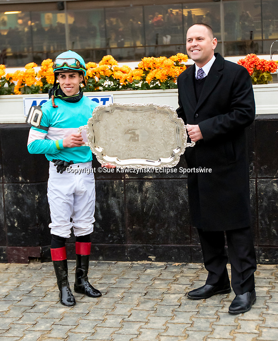 NOVEMBER 24, 2018 : Lady Paname (FR), ridden by Irad Ortiz Jr, wins the Long Island  Stakes at Aqueduct Racetrack on November 24, 2018 in South Ozone, NY.  Sue Kawczynski/ESW/CSM