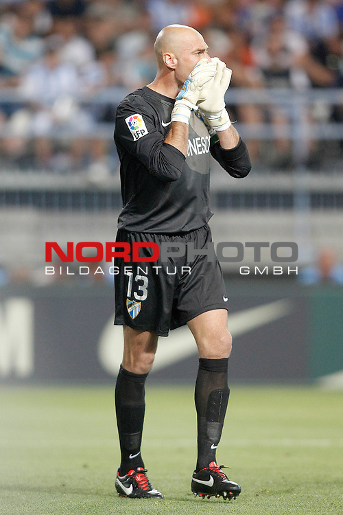 Malaga's Willy Caballero during La Liga match.August 25,2013. Foto © nph / Acero)