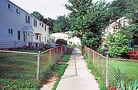 Greenbelt:  Apartment buildings--1940's?   Photo '85.