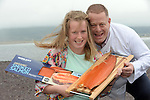 REPRO FREE PHOTO:   <br /> Clodagh and dad Liam Quinlan from Renard with some freshly smoked salmon from the same oven her grandfather used 50 years ago at his smokery in Renard, Cahersiveen, County Kerry on Thursday as the family business celebrate winning two gold medals at the 2015 Great Taste Awards for their smoked salmon. Quinlan's Kerryfish are the only Salmon Smoker in Ireland and the UK to Scoop 3 stars in the awards and it's the second year in a row for Quinlan's Organic Smoked Irish Salmon to win a Great Taste Award.<br /> Photo: Don MacMonagle<br /> <br /> PRESS RELEASE<br /> Quinlan's Kerryfish is celebrating again after winning   two prestigious 3 star Great Taste Awards in the 2015 competition and being placed twice in the top 50 foods in the UK and Ireland.  Quinlan's Kerryfish are the only Salmon Smoker in Ireland and the UK to Scoop 3 stars in the awards and it's the second year in a row for Quinlan's Organic Smoked Irish Salmon to win a Great Taste Award.<br />