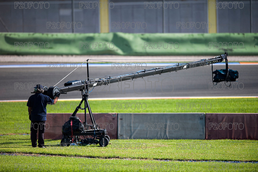 VALENCIA, SPAIN - NOVEMBER 8: TV camera during Valencia MotoGP 2015 at Ricardo Tormo Circuit on November 8, 2015 in Valencia, Spain
