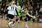 v. li. im Zweikampf &nbsp;Ivana Sazdovski (Vulkan-Ladies Koblenz/Weibern), Lotte Prak (Vulkan-Ladies Koblenz/Weibern) und Seline Ineichen (Frisch Auf Goeppingen Frauen)<br />  im Spiel TPSG FA Goeppingen - VL Koblenz / Weibern.<br /> <br /> Foto &copy; P-I-X.org *** Foto ist honorarpflichtig! *** Auf Anfrage in hoeherer Qualitaet/Aufloesung. Belegexemplar erbeten. Veroeffentlichung ausschliesslich fuer journalistisch-publizistische Zwecke. For editorial use only.