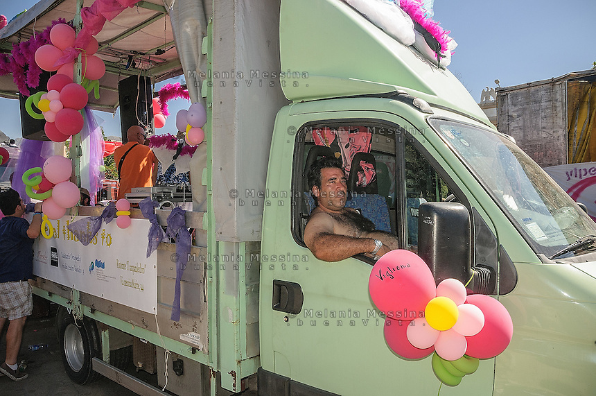 Palermo Gay Pride: the truck driver